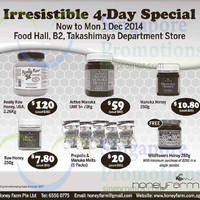 Read more about Honey Farm 4-day Special @ Takashimaya Department Store 28 Nov - 1 Dec 2014