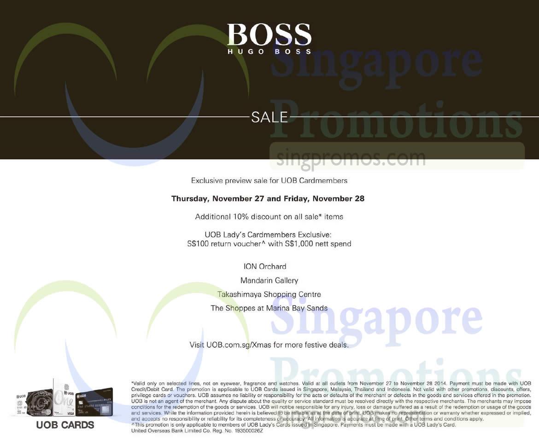 Hugo Boss 27 Nov 2014