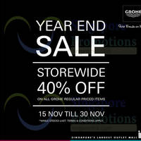 Read more about Asia Excel Grohe Year End Sale 15 - 30 Nov 2014