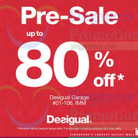 Read more about Desigual Pre- Sale Up To 80% Off @ IMM 27 Nov 2014