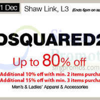 Read more about Dsquared2 Promotion @ Isetan Scotts 21 Nov - 11 Dec 2014