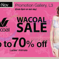 Read more about Wacoal Promotion @ Isetan Scotts 14 - 20 Nov 2014