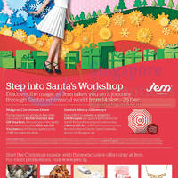 Read more about Jem Santa's Workshop Promotions & Activities 14 Nov - 25 Dec 2014