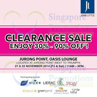 Read more about John Little Clearance Sale @ Jurong Point 21 - 22 Nov 2014