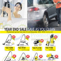 Karcher Vacuum Cleaners Year End Sale Offers 20 Nov - 31 Dec 2014
