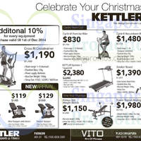 Kettler 10% Off Fitness Equipment Promo 27 Nov - 1 Dec 2014
