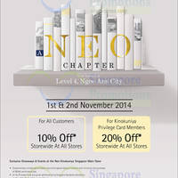Kinokuniya Bookstores 10% OFF Storewide Promotion 1 - 2 Nov 2014