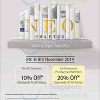 Read more about Kinokuniya Bookstores 10% OFF Storewide Promotion 8 - 9 Nov 2014