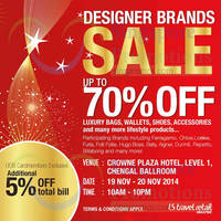 Read more about LS Travel Retail Designer Brands Sale 19 - 20 Nov 2014
