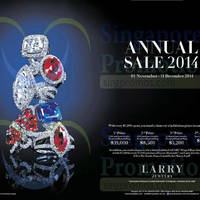 Read more about Larry Jewelry Annual Sale 1 Nov - 31 Dec 2014