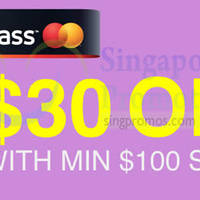 Read more about Lazada $30 OFF With MasterPass Storewide Promo 11 Nov 2014