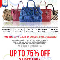 Read more about LovethatBag Branded Handbags Sale @ Concorde Hotel 14 - 15 Nov 2014