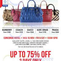 Read more about LovethatBag Branded Handbags Sale @ Concorde Hotel 14 - 15 Nov 2014