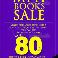 Read more about MPH Bookstores Books SALE @ Singapore Expo 21 - 23 Nov 2014