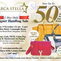 Read more about Marca Stella Designer Handbags Sale @ Concorde Hotel 9 Nov 2014