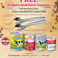 Read more about Marigold Buy 4 Tins & Get FREE 2x Teaspoons 7 - 30 Nov 2014