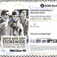 Read more about Massimo Dutti 40% Off Storewide 5hr Promo For OCBC Cardmembers 28 Nov 2014