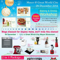 Read more about Mayer Display Items 2-Day Sale @ Great World City 6 - 7 Dec 2014