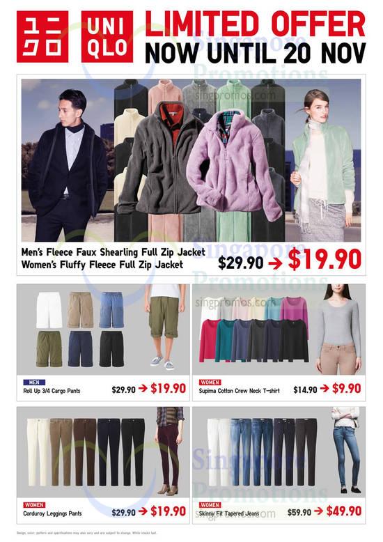 Mens Fleece Faux Shearling Full Zip Jacket, Womens Fluffy Fleece, Cargo Pants, Supima Cotton