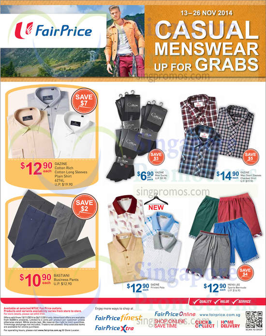 Menswear Shirts, Bermudas, Socks, Pants, Gazine, Gastiani, Meng Lee