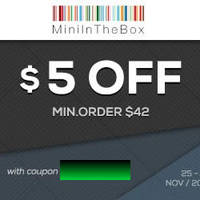 MiniInTheBox $5 OFF Storewide Black Friday Coupon Code 25 - 30 Nov 2014