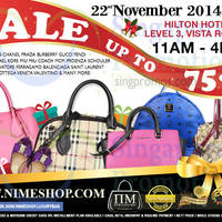 Read more about Nimeshop Branded Handbags Sale @ Hilton Hotel 22 Nov 2014
