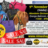 Read more about Nimeshop Branded Handbags Sale @ Mandarin Orchard 9 Nov 2014