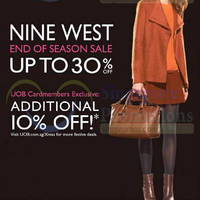Nine West Up To 30% Off End Of Season Sale 27 Nov 2014 - 31 Jan 2015
