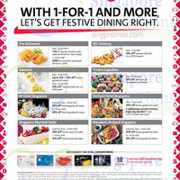 OCBC Cards 1 For 1 Dining Offers & More 26 Nov 2014