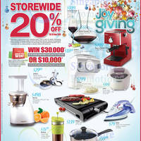 OG 20% OFF Storewide Joy of Giving Promo 27 - 30 Nov 2014