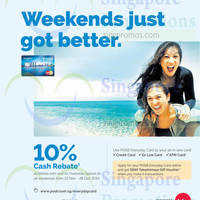POSB Everyday 10% Cash Rebate Air Asia & Overseas Spend Weekends Promo 22 Nov - 28 Dec 2014