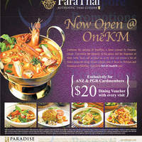 Read more about ParaThai Free $20 Dining Voucher For ANZ Cardmembers @ One KM 19 Nov 2014 - 15 Jan 2015