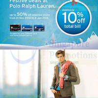 Read more about Polo Ralph Lauren Up To 50% Off For Citibank Cardmembers 21 Nov 2014 - 4 Jan 2015