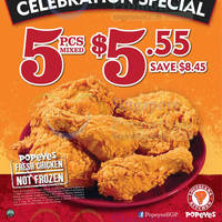 Read more about Popeyes $5.55 5pcs Chicken 1-Day Promo 15 Nov 2014