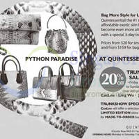 Read more about Quintessential 20% Off Trunkshow Sale @ Pacific Plaza 7 - 9 Nov 2014