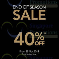 Raoul End of Season Sale 27 Nov 2014