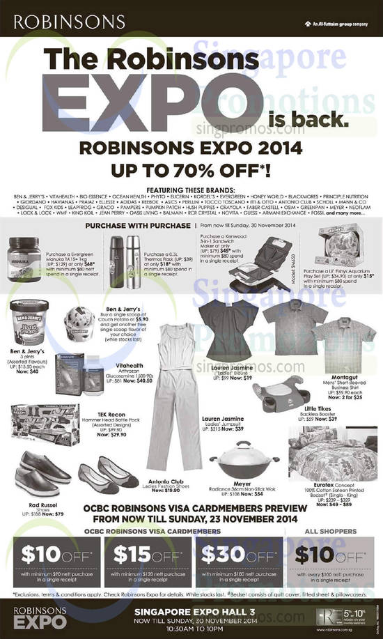 Robinsons Expo 19 Nov 2014