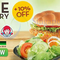 Wendy's Delivery 10% OFF & FREE Delivery Coupon Code 24 - 30 Nov 2014