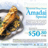 Read more about Seafood Paradise Seasonal Deep Ocean Amadai Special For ANZ Cardmembers 6 Nov - 31 Dec 2014