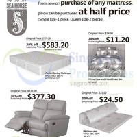 Read more about Sea Horse Buy Mattress & Get 50% Off Pillow 5 - 17 Nov 2014