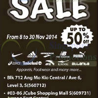 Read more about Sportslink Sports Clearance Sale @ 3 Locations 8 - 30 Nov 2014