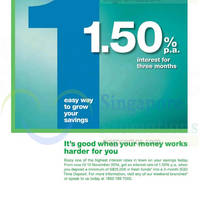 Read more about Standard Chartered SGD Time Deposit 1.50% p.a. Interest Promo 1 - 10 Nov 2014