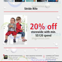 Read more about Stride Rite 20% OFF For DBS/POSB Cardmembers 14 Nov - 31 Dec 2014