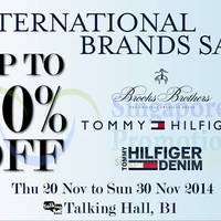 Takashimaya International Brands Sale 20 - 30 Nov 2014