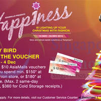 Read more about Tampines 1 Spend $150 & Get Free $10 AsiaMalls Voucher 14 Nov - 24 Dec 2014