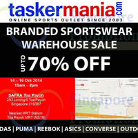 Read more about Taskermania.com Sportswear Warehouse Sale 14 - 16 Nov 2014