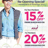 The Face Shop 15% OFF Storewide @ Tampines Mall 1 - 8 Nov 2014