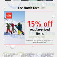 Read more about The North Face 15% Off Promo 21 Nov - 31 Dec 2014