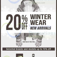 The Planet Traveller 20% Off Winter Wear 21 - 23 Nov 2014