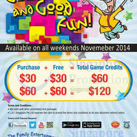 Timezone 100% Extra Double Dollar Promo (Weekends) 1 - 30 Nov 2014